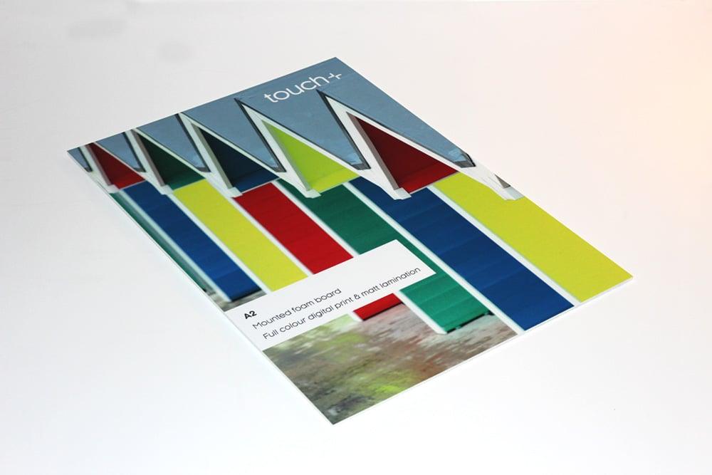 Foam board posters printed