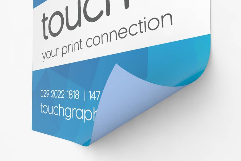 Blue back billboard poster printing Cardiff